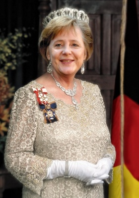 Angela Merkel as Queen Elizabeth