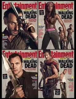Entertainment Weekly quadruple Walking Dead cover