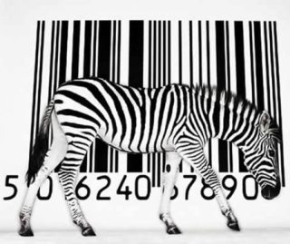 barcode with a Zebra in front