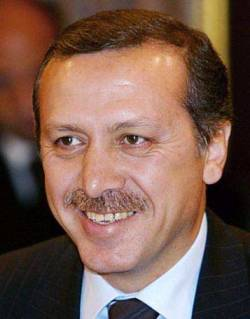 Recep Tayyip Erdoğan smiling