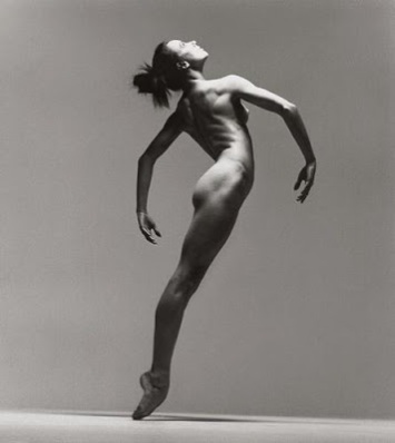 Sylvie Guillem in all nude black & white