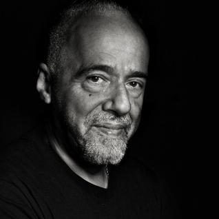 Paulo Coelho in black & white